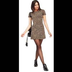 Reformation Mars Leopard Print Mini Dress SZ XS